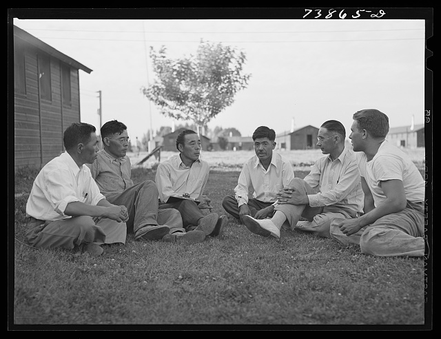 Rupert, Idaho. Former CCC (Civilian Conservation Corps) camp now under FSA (Farm Security Administration) management. The camp council meets with the camp manager