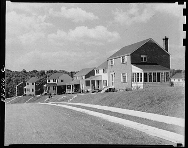 Arlington, Virginia. Subdivision under construction