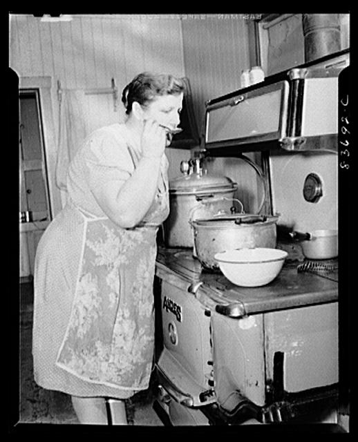 Fort Kent, Maine. (vicinity). Making soup at the Gagnon farm.
