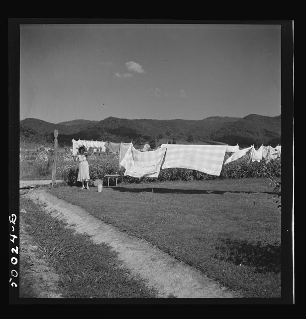 The wash line. Tygart Valley, West Virginia