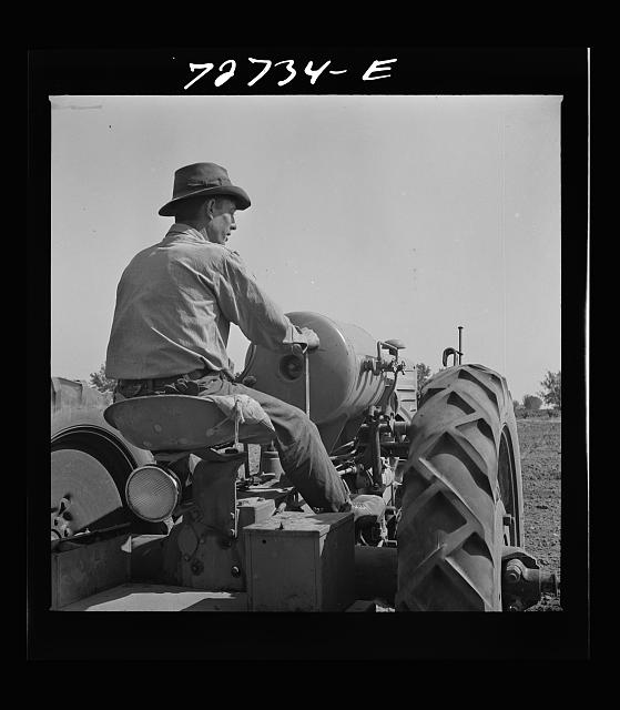 Merced County, California. Tractor operators