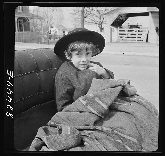 Lancaster, Pennsylvania. Mennonite boy