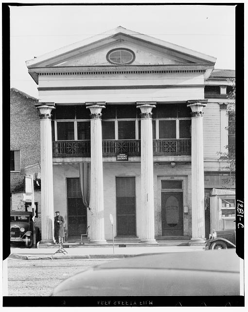 New Orleans Greek revival architecture. Louisiana
