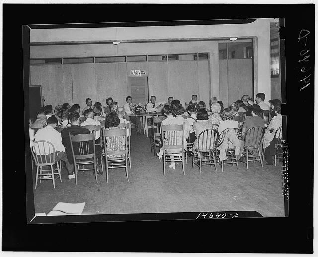Milaca, Minnesota (vicinity). Meeting, probably for considering elimination of well pits