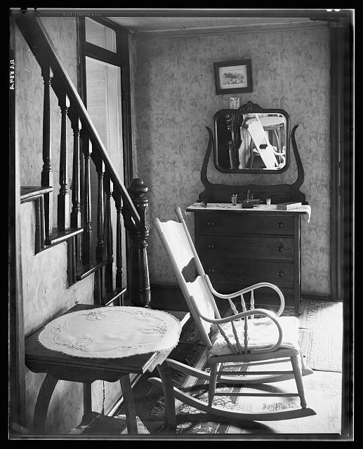 Interior of unemployed man's house. Morgantown, West Virginia