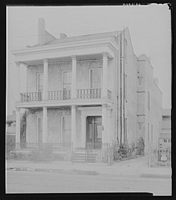 Greek Revival house at 1417 Annunciation Street. New Orleans, Louisiana