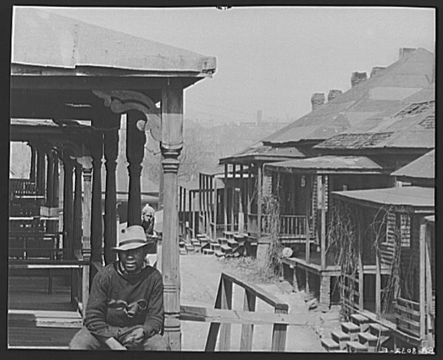 Negroes and houses. Atlanta, Georgia