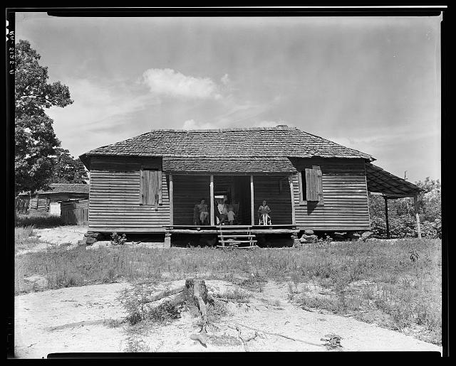 Home of cotton sharecropper Floyd Borroughs. Hale County, Alabama