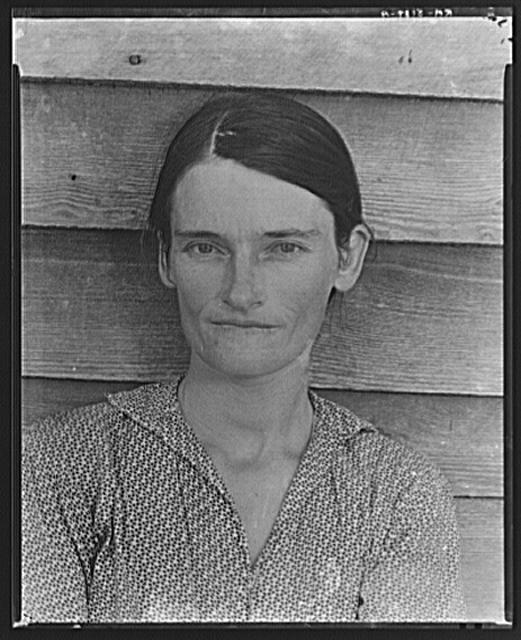 Allie Mae Burroughs, wife of cotton sharecropper. Hale County, Alabama