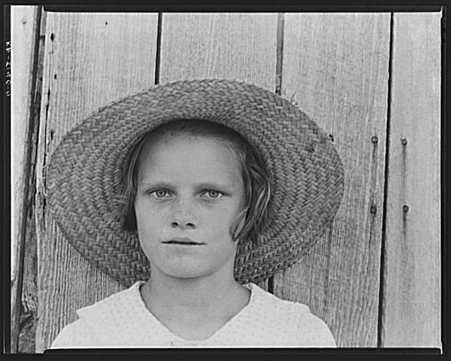 Lucille Burroughs, daughter of a cotton sharecropper. Hale County, Alabama