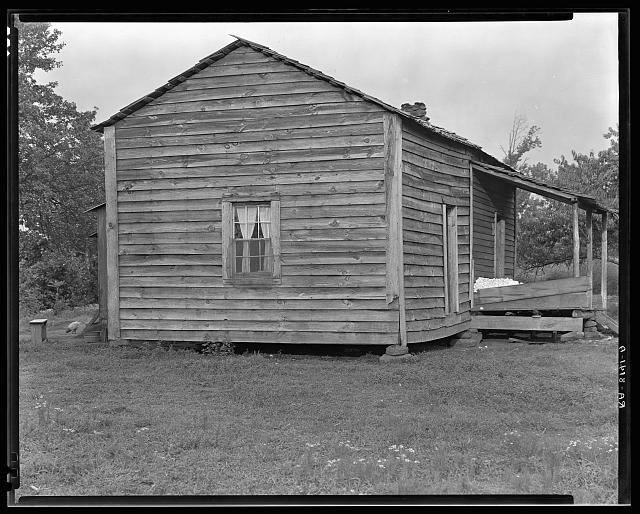 Home of Bud Fields, Alabama sharecropper. Hale County, Alabama