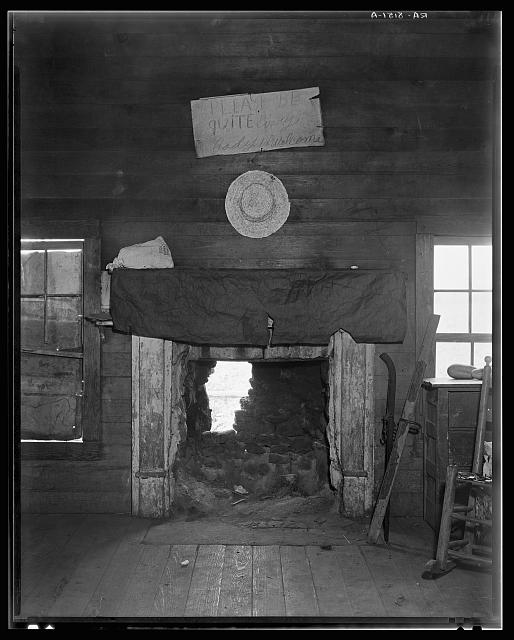 Cotton room, formerly prayer meeting room. Frank Tengle's farm. Hale County, Alabama