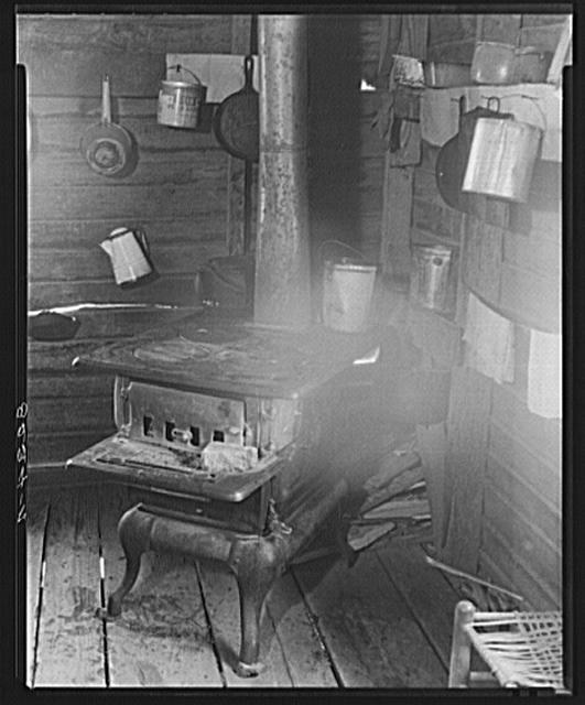 Kitchen corner in Alabama tenant farmer's house
