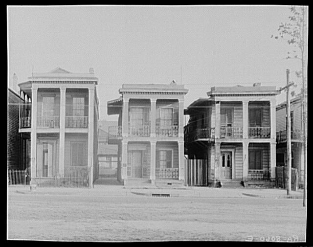 Frame houses. New Orleans, Louisiana