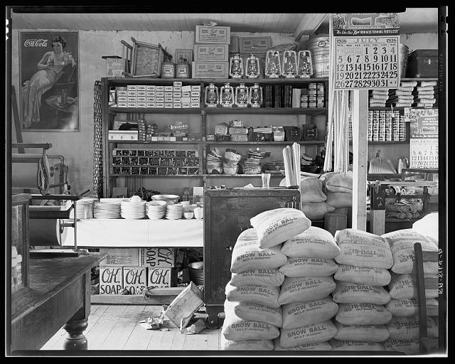 General store interior. Moundville, Alabama