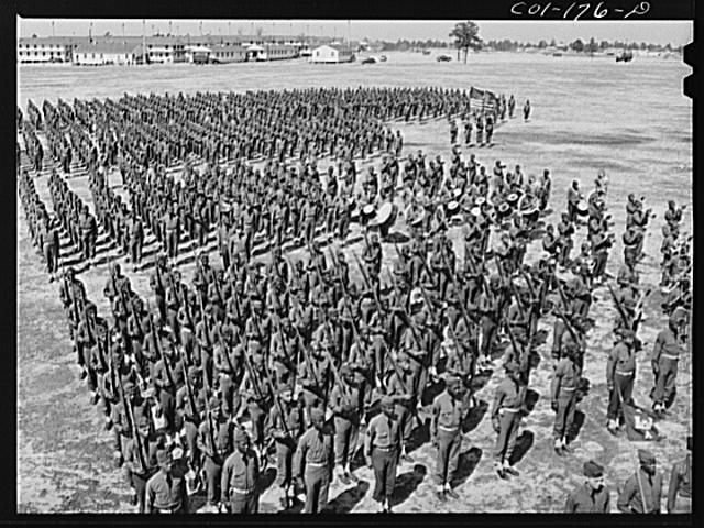 Fort Bragg, North Carolina. 41st Engineers on parade ground