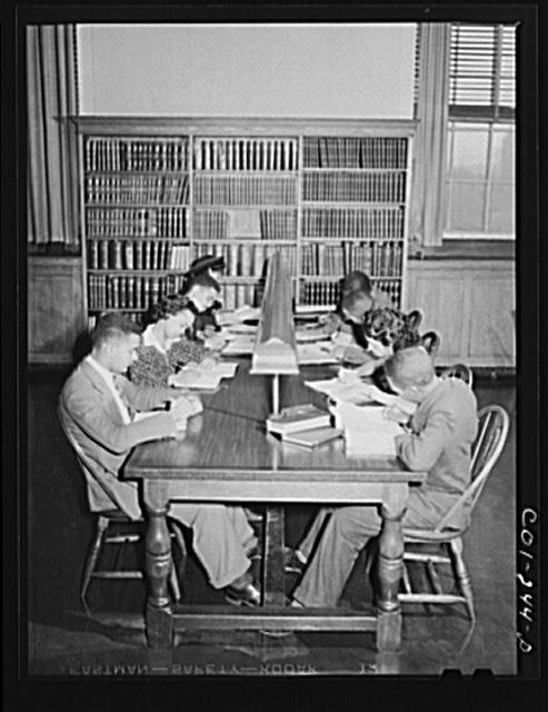 Atlanta University, Atlanta, Georgia. Students in library
