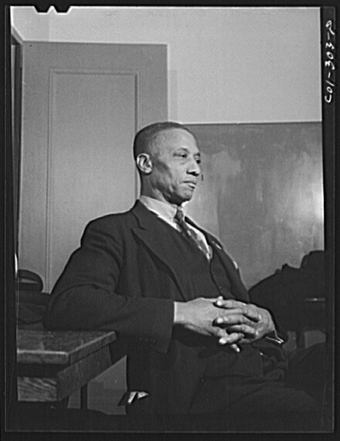 Chicago, Illinois. Ida B. Wells Housing Project. Portrait of a member of a forum discussion group