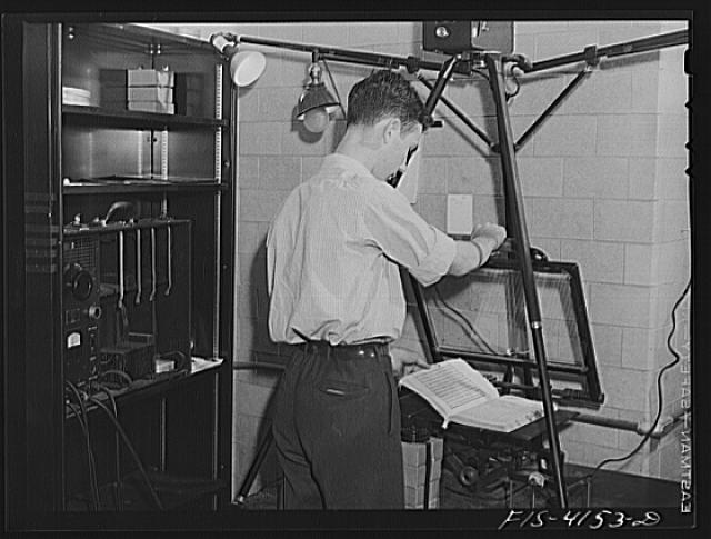 Washington, D.C. Microfilming Chinese documents. Library of Congress