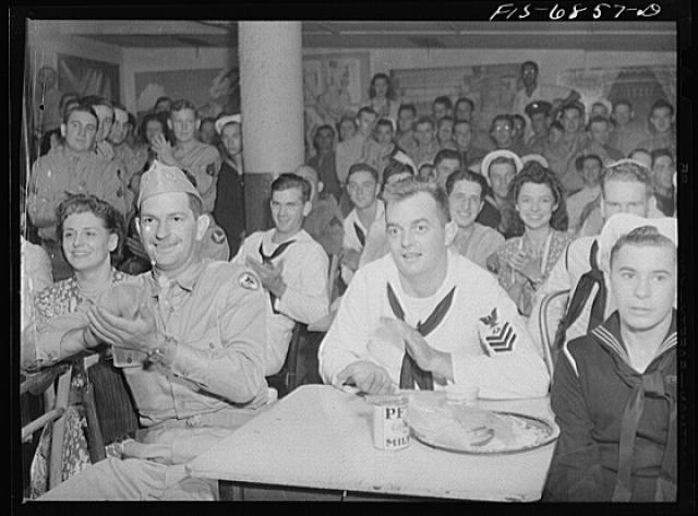 New York, New York. Audience at the Stage Door canteen