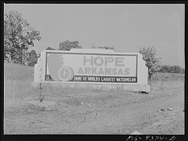 Hope, Arkansas (vicinity). War emergency pipeline from Longbeach, Texas to Norris City, Illinois. Sign