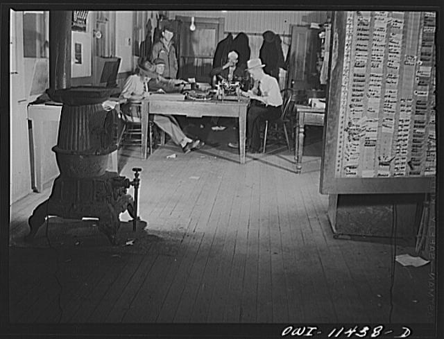 Amarillo, Texas. Yardmaster's office in the Santa Fe Railroad yards