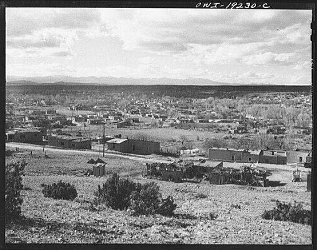 Santa Fe, New Mexico. Looking west over the city