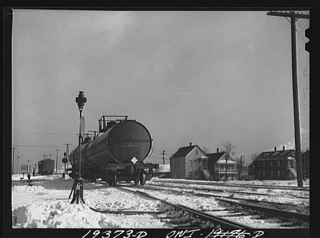 Chicago, Illinois. Switching tank cars