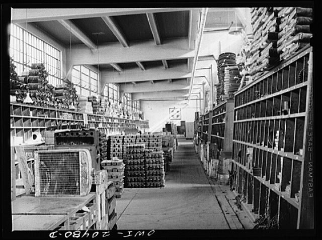Albuquerque, New Mexico. Part of the Atchison, Topeka and Santa Fe Railroad store department. Over 35,000 different items are carried here