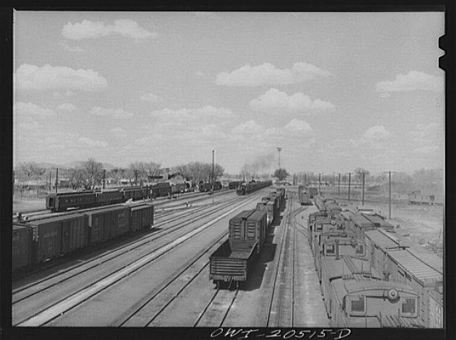 General view of part of an Atchison, Topeka and Santa Fe Railroad