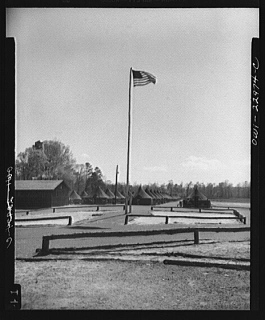 Camp Lejeune, New River, North Carolina. Scene of the 51st Composite Battalion, U.S. Marine Corps