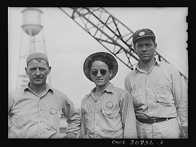 Beaumont, Texas. Shipyard workers