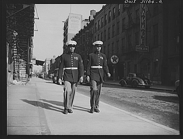 New York, New York. Negro Marines in Harlem