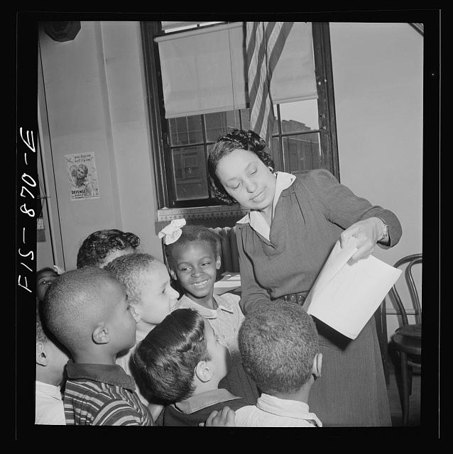 Washington, D.C. Dancing class in a Negro grammar school