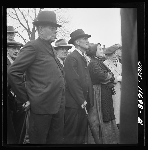 Lititz, Pennsylvania. Mennonites at a public sale