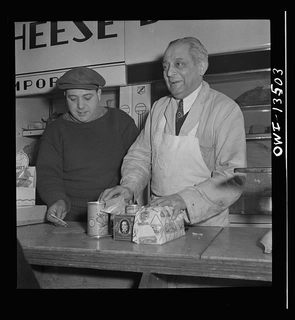 New York, New York. Jewish owner of a grocery store on Mulberry Street