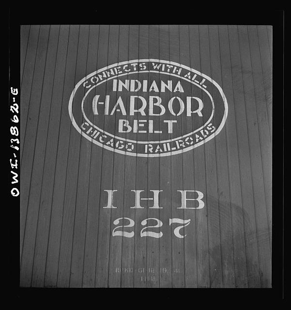 Chicago, Illinois. Emblem of the Indiana Harbor Belt railroad