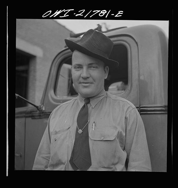 Atlanta, Georgia. Jim Bishop, truck driver for the Associated Transport Company