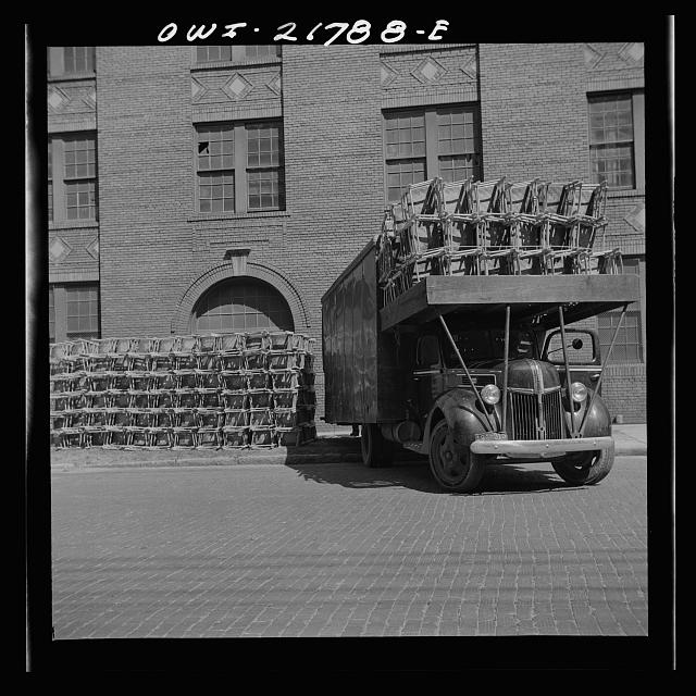 Montgomery, Alabama. Truck loaded with cane chairs