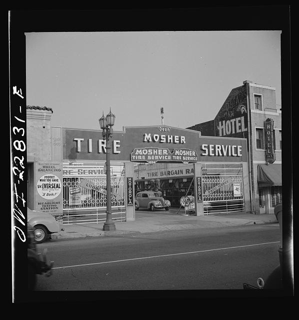 Hollywood, California. Tire service station