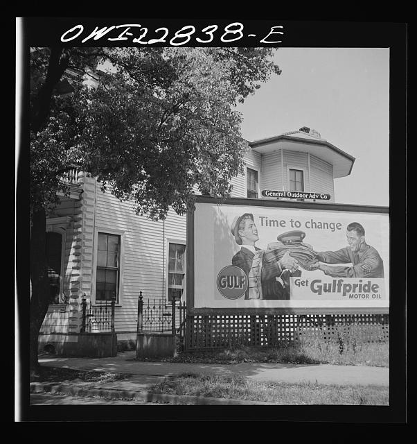 New Orleans, Louisiana. Gasoline advertisement