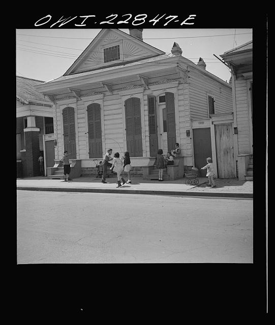 New Orleans, Louisiana. Children jumping rope