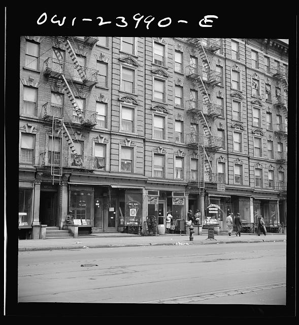 New York, New York. Harlem apartment house