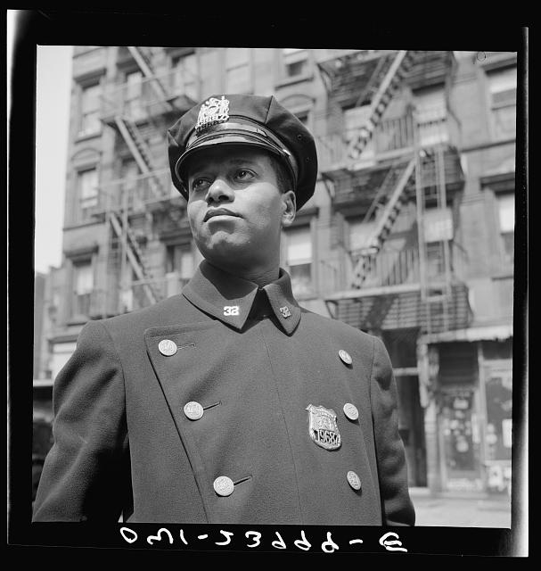 New York, New York. Policeman no. 19687