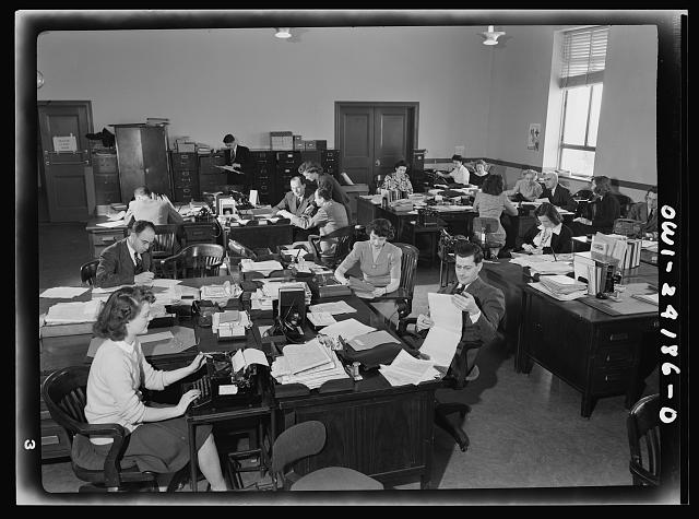 Washington, D.C. OWI (Office of War Information) research workers