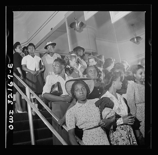 Washington, D.C. Part of a crowd waiting their turn in a shoe store on the last day on which war ration shoe coupon seventeen may be used