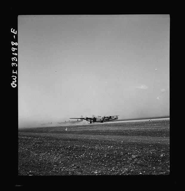 B-24 bombers of the U.S. Army 9th Air Force at their base somewhere in Libya
