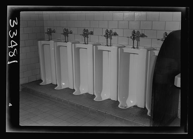 Keysville, Virginia. Randolph Henry High School. Lavatory facilities