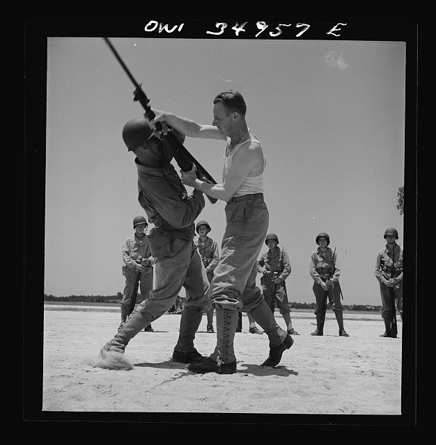 Daniel Field, Georgia. Air Service Command. Bayonet class: learning how to disarm an opponent