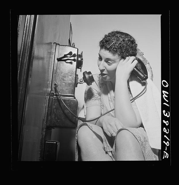 Washington, D.C. The telephone in a boardinghouse is always busy